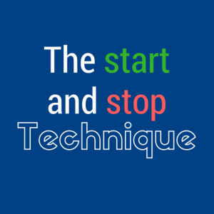 start and stop technique