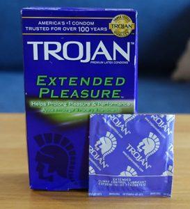 trojan extended pleasure condom
