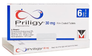 image of a box of dapoxetine tablets