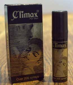 photo of the climax spray bottle and packaging