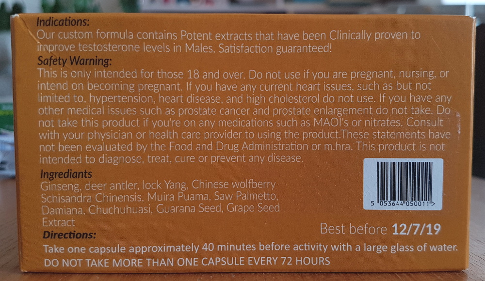 photo of the jellybean gold instructions on the back of the box