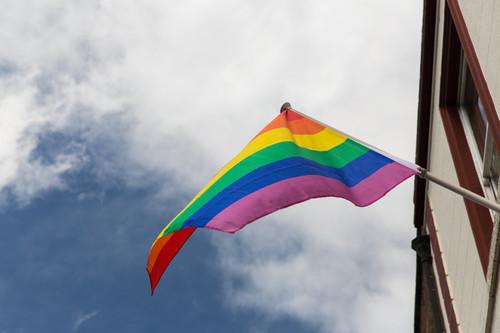 photo of the rainbow flag
