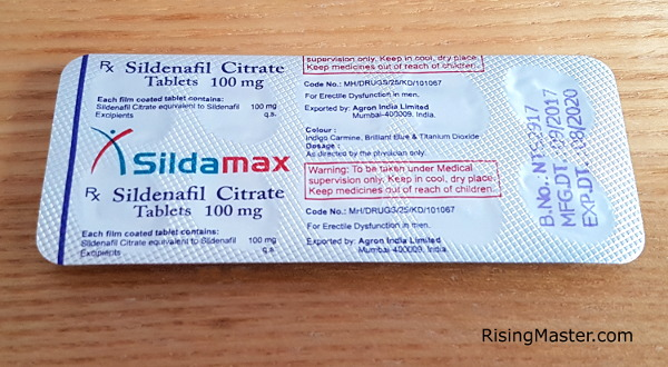 photo of a pack of sildamax 100mg