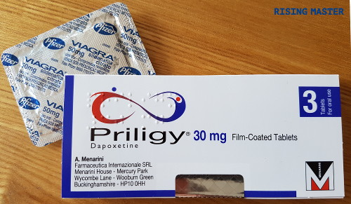 photo of a pack of priligy and viagra together