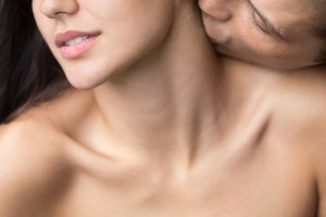 woman's neck erogenous zone