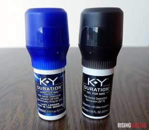 photo of the k-y duration spray and gel bottles