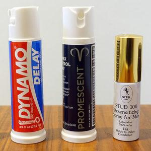photo of three delay sprays
