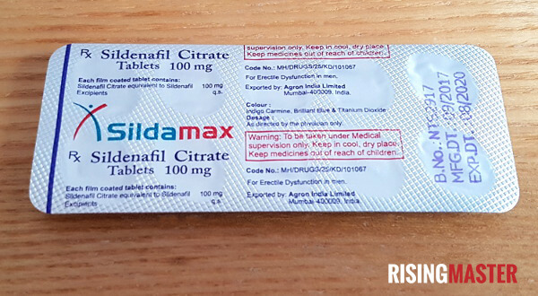 photo of a pack of sildamax tablets
