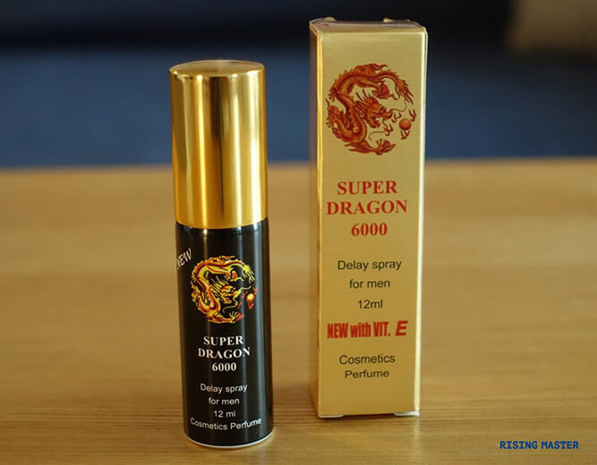 photo of the super dragon 6000 delay spray bottle and box